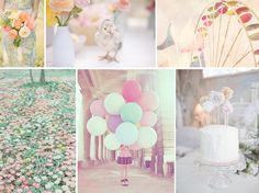 LOVE the balloon picture :) Pastel Wedding Inspiration Pastel Wedding Theme, Pastel Party, Wedding Colors, Pastel Weddings, Spring Weddings, Color Inspiration, Wedding Inspiration, Wedding Ideas, Our Wedding