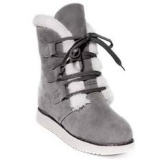 SHARE & Get it FREE | Fashion Women's Snow Boots With Suede and Lace-Up…