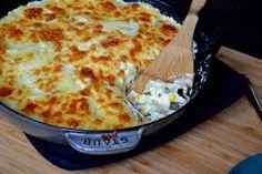 Hardly Housewives: Poblano, Corn, and Potato Gratin