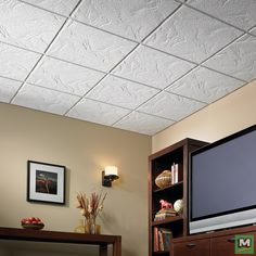 Good Get A Ceiling With High Noise Reduction And Excellent Sag Resistance With  USG Sandrift™ Parchment Acoustical Ceiling Panels. Theyu0027re Easy To Clean  And Their ...