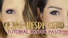 Cómo maquillar cejas desde cero paso a paso | Contra el cáncer #FuertesBonicas - YouTube