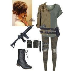 My zombie apocalypse outfit. Zombie Apocalypse Outfit, Apocalypse Fashion, Zombie Apocalypse Survival, Runners Outfit, Badass Outfit, Spy Outfit, Cool Outfits, Fashion Outfits, Fandom Outfits