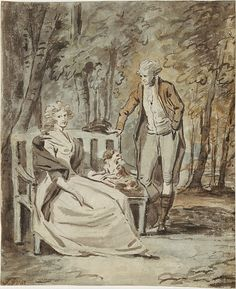 Study for a Portrait: A Lady and a Gentleman in a Park, ca. 1780.