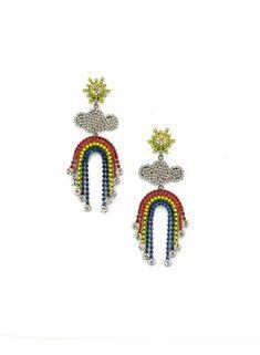 Elizabeth Cole Pot of Gold Earrings – Elizabeth Cole Jewelry Fringe Earrings, Gold Earrings, Pot Of Gold, Jewel Box, Over The Rainbow, Swarovski Crystals, Brooch, Jewels, Glass
