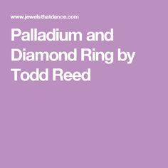 Palladium and Diamond Ring by Todd Reed