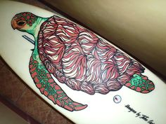 turtle painted surfboard - Google Search