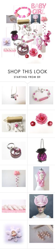 """""""Pink Baby Girl"""" by anna-recycle ❤ liked on Polyvore featuring DUBARRY"""