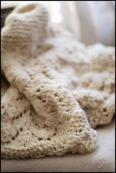 Corriedale lace blanket