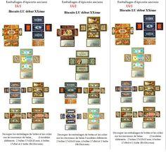imprimables boîtes anciennes LU - vintage LU boxes (miniatures 1/12) - création VM