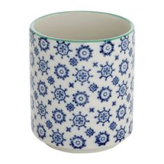Brighten up your cupboards with this blue Carolyn Donnelly Eclectic Stencil Teacup Cupboards, Teacup, Color Patterns, Stencils, Mugs, Dining, Tableware, House, Home Decor