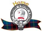 "Home Clan Tartan the Crest ""On a cap of maintenance Proper, a lion's head erased Argent"". Home Clan Motto is ""A HOME. A HOME. A HOME"" ""true to the end"". Chief: David Douglas-Home, 15th Earl of Home. MacRory Mor"