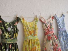 a tea dress collection made with vintage sheets