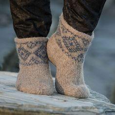Katalog 1309 - Viking of Norway Crochet Slippers, Knit Crochet, Foot Warmers, Boot Cuffs, Knitting Socks, Knit Socks, Felt Art, Needle And Thread, Knitting Projects