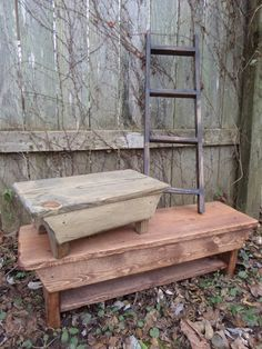 Unique Primtiques Primitive Table Riser Ladder by UniquePrimtiques, $100.00