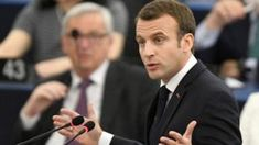 Frances Macron urges defence of democracy in EU -  France's Macron urges defence of democracy in EU                                                                                                17 April 2018                                    Image copyright                  EPAImage caption                                      President Macron triumphed in France on a strongly pro-EU platform                                French President Emmanuel Macron has urged Europeans to resist…