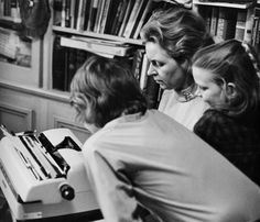 Technology has changed since this photo, but Phyllis's writing & opinions are still going strong! #throwbackthursday