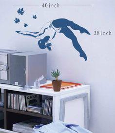 gymnast wall decal Gymnastics NS031 Vinyl Decal Wall Art Sticker