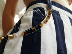 Striped and spiked shorts by FamousLivingDeadFLD on Etsy