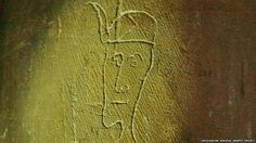 A head of a man was found etched into a wall of a church in Gonerby, Lincolnshire (medieval graffiti)