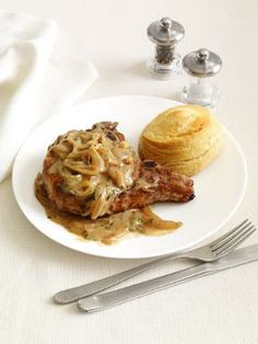 Smothered Pork Chops - food network magazine