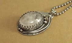Quartz Sterling Silver Pendant Asymetrical by katherinefathisilver, $115.00