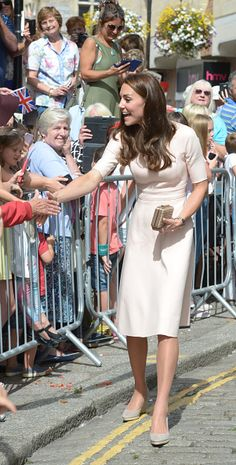Catherine Duchess of Cambridge meets the public as she visits Truro Cathedral on September 1 2016 in Truro United Kingdom