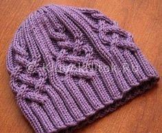 Зимняя шапочка | Вязание для женщин | Вязание спицами и крючком. Схемы вязания.