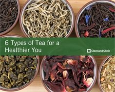 THESE 6 teas can help prevent cancer and heart disease. #tea