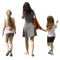 Cutout Family Walking 0011 available for download in XL size
