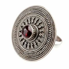 This is a beautiful tribal sterling silver ring with garnet gemstone. Sterling silver ring with garnet gemstone. The item is your responsibility until it reaches us. Jewelry Bracelets, Jewelery, Jewellery Box, Sunflower Jewels, White Jewelry Box, Garnet Gemstone, Wedding Jewelry, Dog Tag Necklace, Sterling Silver Rings