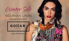 GOHAR NOURHAN Linen Collection 2017 GOHAR Textile New Arival Nourhan Linen Collection 2017 Is Now Available on Affordable.pk