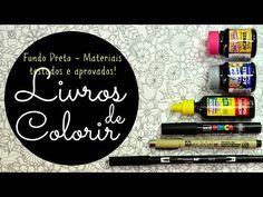 Atelier Gina Pafiadache: Livros de Colorir: Fundo preto - materiais testados e aprovados!!