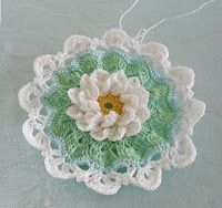 crochet Lace and Lupins: Water Lily Doily, a wip