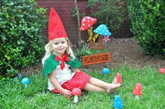 Girl Gnome Costume made to order 2 3 4 5 6 by StorybookStyles, $39.00