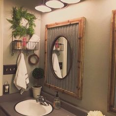 Simply loving how Enjoli used our Mirrors in her bathroom! Awesome! #vintageinspired