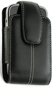 Black Leather Vertical Case Stitched Black For IPhone by Hedocell. $6.99. Elegance, Quality and Affordability are just three of the features of this beautiful genuine soft leather case pouch for your IPhone. The elegant design, is beautiful and fashionable.  It really looks like a much more expensive case. This versatile case, has a magnetic closure that will keep your phone safely inside the case without affecting it's operation. It has a belt clip in the back. This case is m...