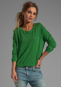 American Vintage grass green sweater