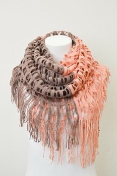 Two-tone Shredded Grid Scarf - Rose – Pink Slip Boutique
