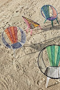 Colourblocked Basket Chair