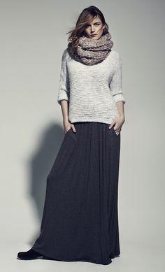 jupe longue en mode hiver