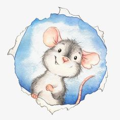 Mouse Hole - illustration by Monica Pierazzi Mitri. great to put on the wall as your class mouse hole. Maus Illustration, Illustration Mignonne, Animal Drawings, Cute Drawings, Art Fantaisiste, Cute Mouse, Whimsical Art, Cute Art, Illustrators
