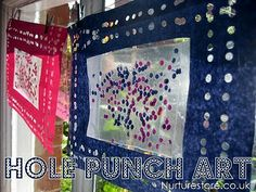 Ever tried hole punch art? A clever idea that's a 3-in-1: make a frame, create your own art supplies and a great fine motor work out too.  #kidscrafts #kids #motorskills