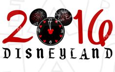 Mickey fireworks Happy New Year 2016 INSTANT DOWNLOAD digital clip art ...