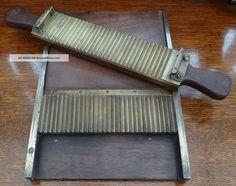 Rare Antique Victorian Pharmacy Pill Sorting Machine. Mahogany & Brass Runner