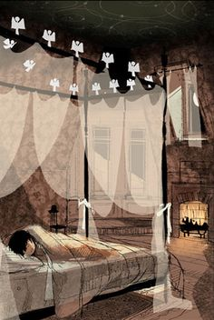 Coraline by J. Klassen. He worked on it doing visual development and drawings for sets and props.