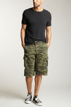 Burnside Men's Camo Ripstop Cargo Shorts by Burnside | Cargo short ...