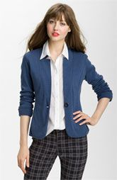 Need one of these blazers for work. Not with these pants though! WTH!?  Caslon® Double Knit Blazer