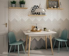 The Essentials- Ombre Textured Subway Tiles: swedishmink, ShoreThing, OysterBay… Tiles, Interior Design, Furniture, Home, Interior, Kitchen Design, Wall Tiles, Tile Trends, Home Decor