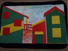 La Boca, Caminito. Collage con cartón corrugado de colores y témpera - YouTube