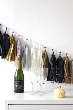 Tuxedo Tissue Paper Tassel Garland Kit | The TomKat Studio Shop